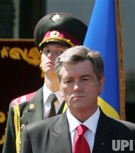 President Yushchenko attends a Victory Day ceremony in ...