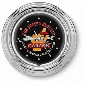The Busted Knuckle Garage Neon Clock Clocks at