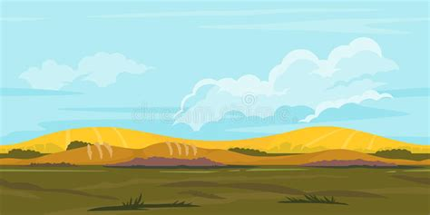 fields game background landscape stock vector