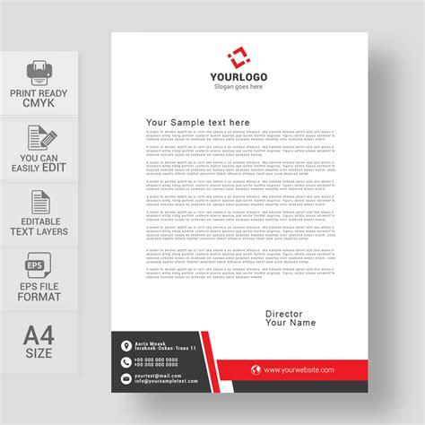 corporate letterhead design eps   wisxicom