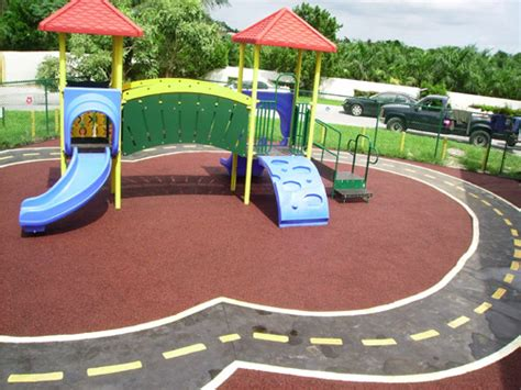 Poured Rubber Flooring For Playgrounds by Poured In Place Rubber Surfacing Trassig The Playground