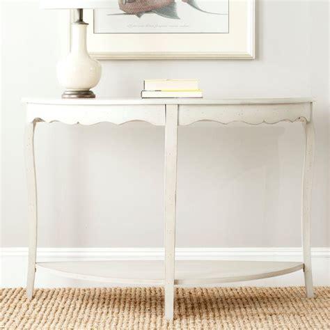 off white console table safavieh regan distressed cream console table amh5708c