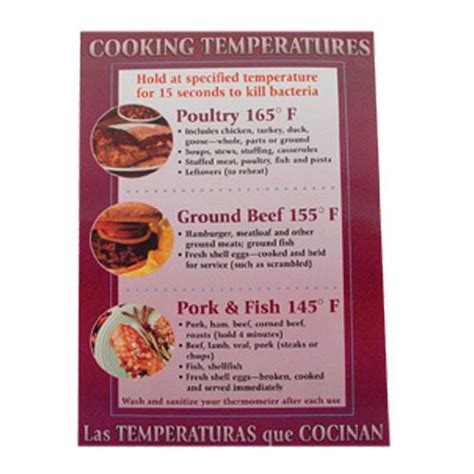 Commercial - Cooking Temperature Food Safety Poster | eTundra