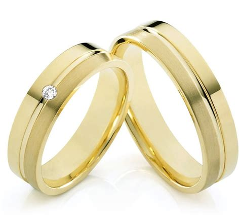 wedding rings for him and her gold custom tailor jewelry yellow gold plating titanium