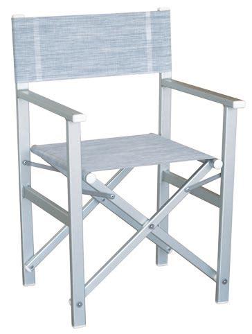 sedie regista alluminio poltrone regista