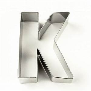 Letter k cookie cutter for Cookie letter press