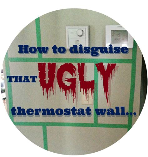 Most accent walls are the first walls you see when entering a room. Hometalk | How To Hide an Ugly Thermostat