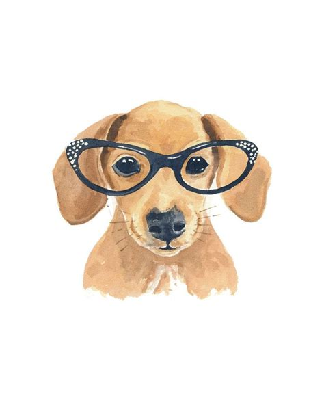 dachshund dog watercolor painting original art cat eye