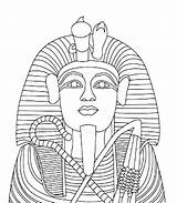 Coloring King Tut Pharaoh Egyptian Popular Halloweens sketch template