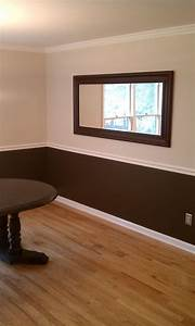 Two tone living room wall colors home combo for Color of walls for living room