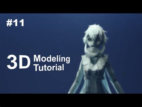 part   anime character  modeling tutorial ii hair front youtube