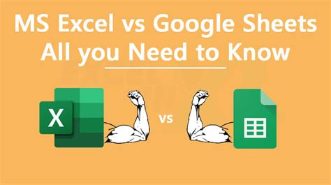 ms excel  google sheets      ms