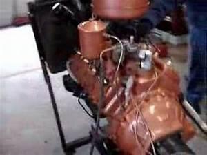 1950 Ford Flathead 8ba Engine Test