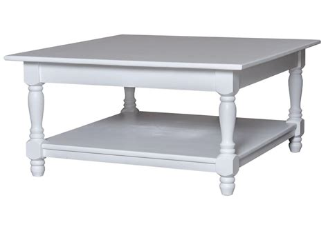 canapé tiroir lit acheter votre table basse carrée en pin massif blanche