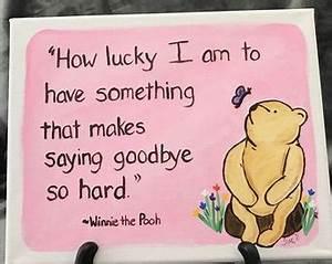 Pooh saying goo... Classic Goodbye Quotes