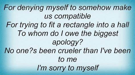 Alanis Morissette - Sorry 2 Myself Lyrics - YouTube