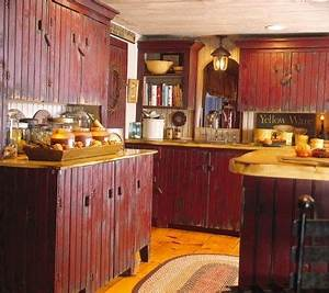 red kitchen cabinets 1198
