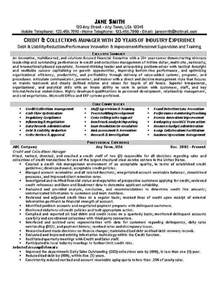 resume for credit manager winning resume exle for credit and collections manager or debt collector