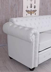 Chesterfield Sofa Weiss : chesterfield sofa weiss clubsofa couch eco leder englisches sofa sitzbank 200cm ebay ~ Eleganceandgraceweddings.com Haus und Dekorationen