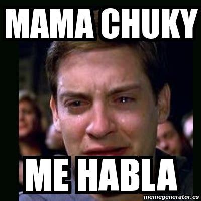 Memes De Chucky - meme crying peter parker mama chuky me habla 4708732