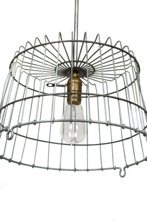 wire basket light fixture project ideas