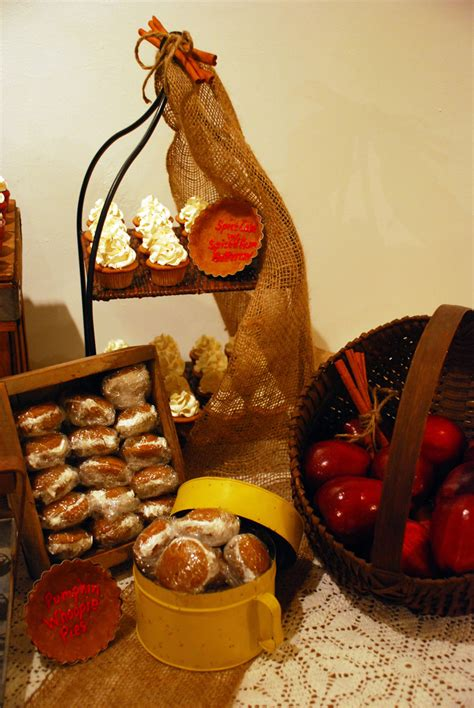 rustic fall autumn dessert table cakecentralcom