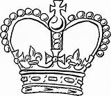 Crown Coloring Pages Queen Tiara Drawing Template King Colouring Kings Clipart Cliparts Simple Line Crowns Printable Outline Jewels Easy Edwards sketch template