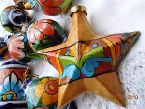 vintage mexican christmas ornaments set of 12 by vintagechichibean