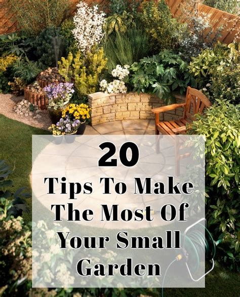 How To Make The Most Of A Small Bathroom by 20 Tips To Make The Most Of Your Small Garden
