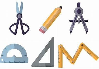Tools Architecture Vectors Drafting Flat Vector Clipart