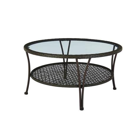 hton bay arthur all weather wicker patio coffee table