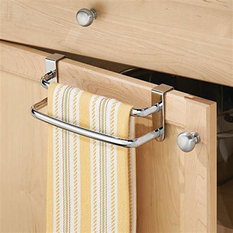 kitchen cabinet towel bar interdesign axis over the cabinet kitchen dish towel bar