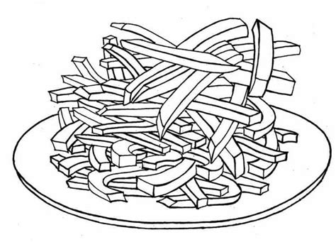 Delicious French Fries Coloring Page