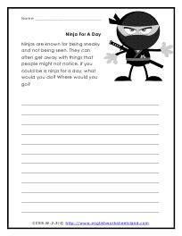 creative writing worksheet 2nd grade