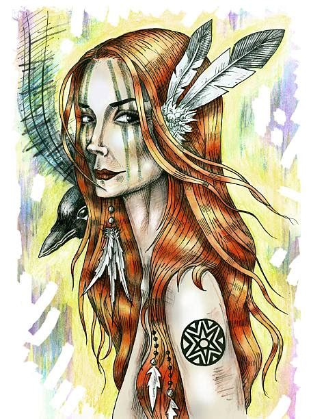 Choose from 70+ native american graphic resources and download in the form of png, eps, ai or psd. Sexy Native American Women Illustrations, Royalty-Free ...