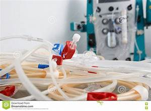 Tubes Of Hemodialysis Machine Stock Photography