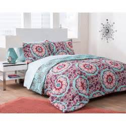 formula seafoam medallion reversible complete bedding set gre