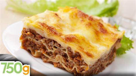 recettes de lasagne bolognaise maison lasagna