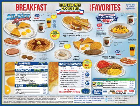 Waffle House Menu - Waffle House