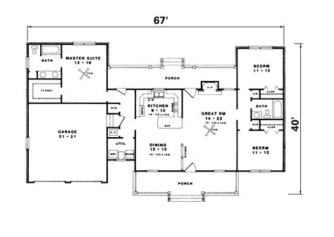 custom ranch floor plans ranch home country house plans on 1500 sq ft floor 15