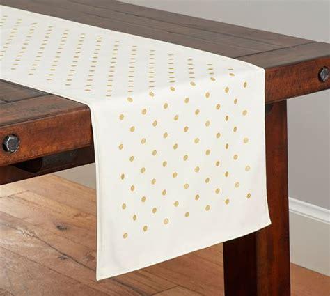 table runner pottery barn gold polka dot table runner pottery barn