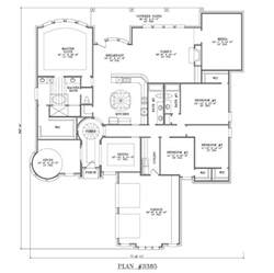 4 bedroom one story house plans 4 bedroom 3 bath 1 story house plan 3385