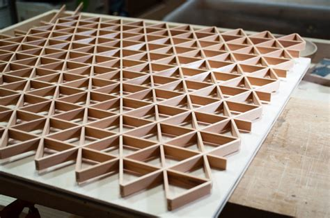 hexagonal kumiko pattern big sand woodworking