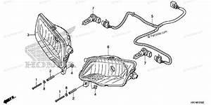 Honda Atv 2015 Oem Parts Diagram For Headlight
