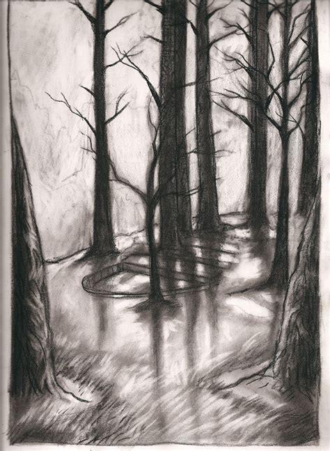 charcoal trees  madmindinc  deviantart art
