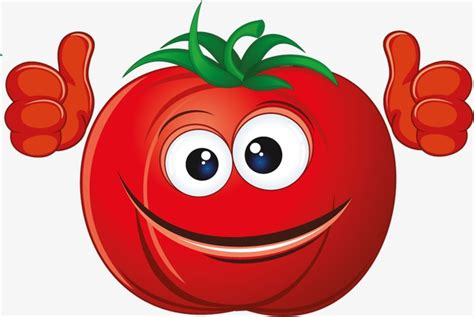 Smiling Tomato, Cartoon, Personification, Smile Png Image