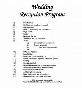 Wedding program template 64 free word pdf psd documents download free premium templates for Wedding reception program template free