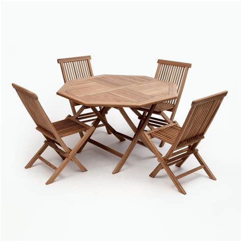 bali brown  piece wood octagon outdoor dining set