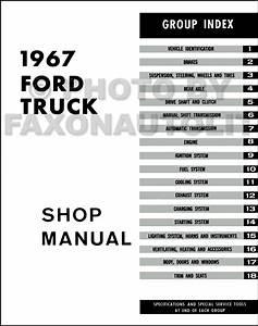 1967 Ford Shop Manual New Set Pickup F100 F250 F350