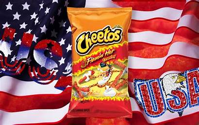 Cheetos American Snack Flamin Became